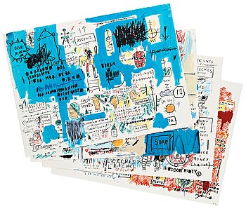 """336. Jean-Michel Basquiat After, """"Ascent, Olympic, Leeches, and Liberty""""."""