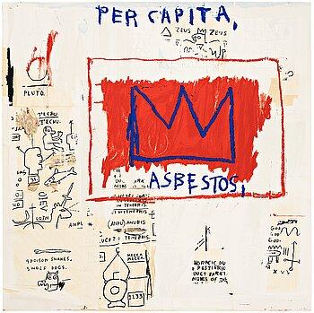 "335. Jean-Michel Basquiat After, ""Per Capita""."