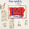 "Jean-michel basquiat after, ""per capita""."