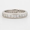 Tiffany & co, lucida diamond eternity band ring, platinum.