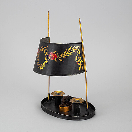 A two light candlestick, 20th century.