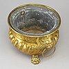 A ca 1900 brass flower pot.