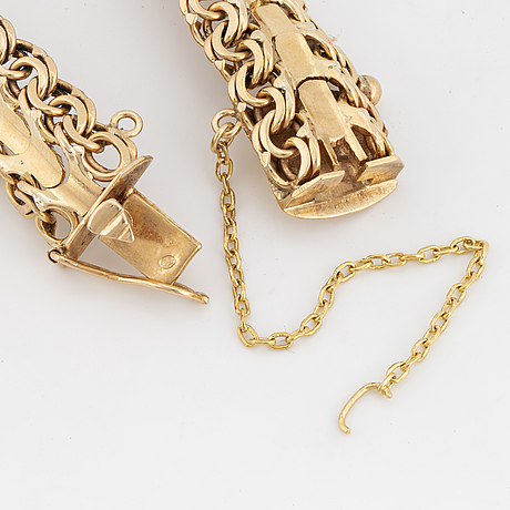 Armband, guld, fantasilänk.
