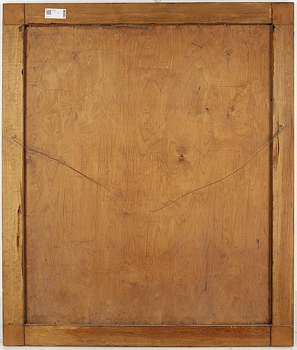 Pelle swedlund, oil on panel, signed.