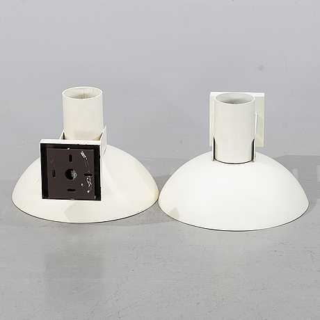 A pair of wall lamps, second half of the 20th century.