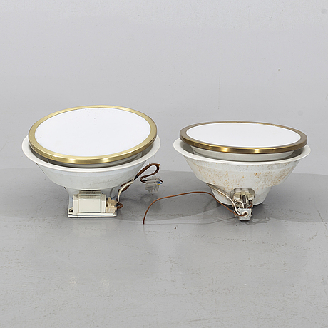Louis poulsen, a pair of wall lamps, denmark.