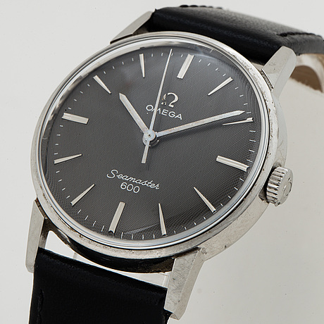 Omega, seamaster 600, linen dial, wristwatch, 32.5 mm.