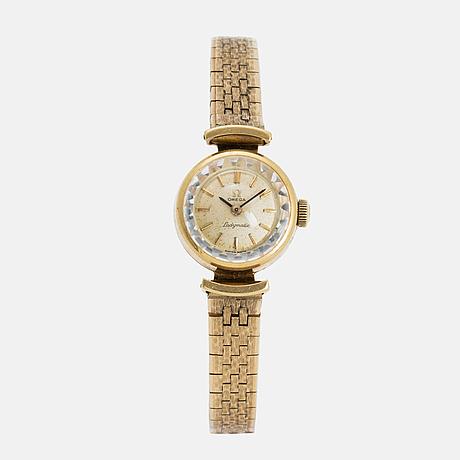 Omega, ladymatic,  wristwatch, 18 mm.