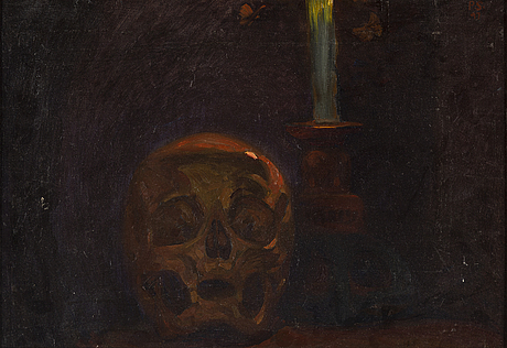 Pelle swedlund, oil on canvas, signed and dated 1897.