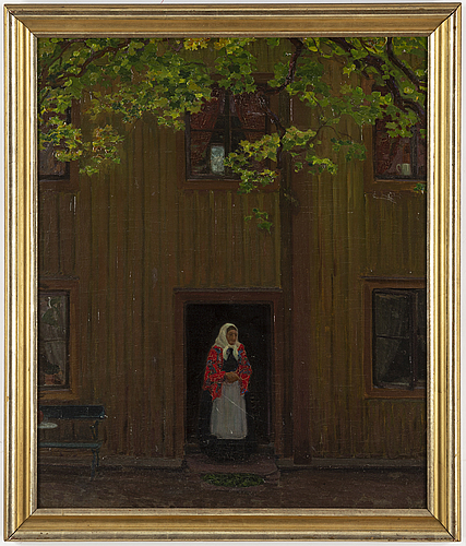 Pelle swedlund, oil on canvas, signed.