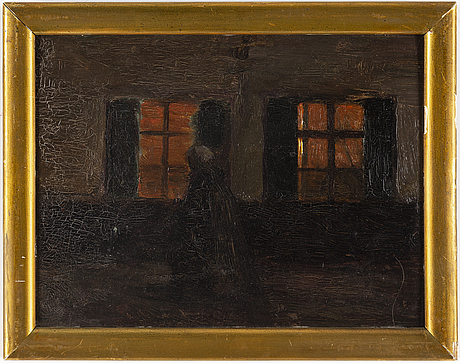 Pelle swedlund, oil on paper-panel.
