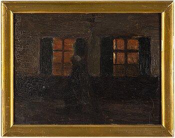 PELLE SWEDLUND, oil on paper-panel.