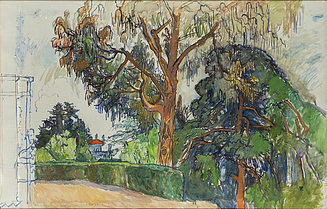 Hilding linnqvist, oil on canvas, signed with monogram.