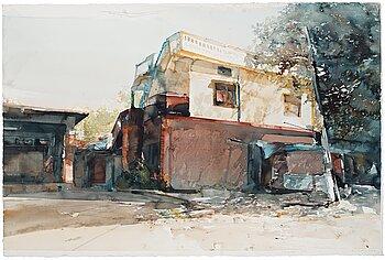 """303. Lars Lerin, """"Bangalore i juli""""."""