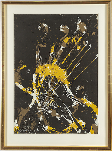 Fernandez arman, lithograph in colours, signed 19/120.