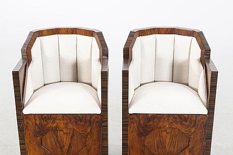 FÅtÖljer ett par art deco-stil 1900-tal.