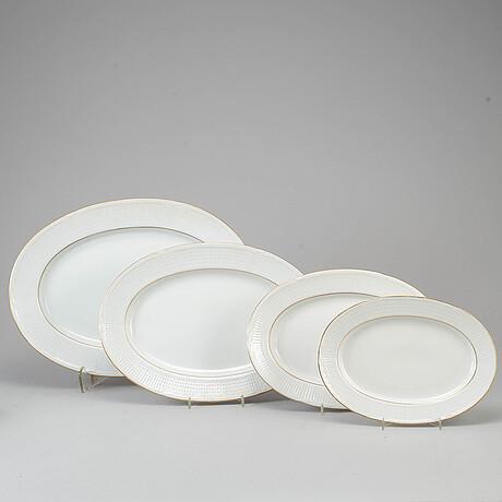 Louise adelborg, a porcelaine service, 'swedish grace', rörstrand, 120 psc.