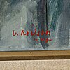 Victor axelson, oil on panel, signed.