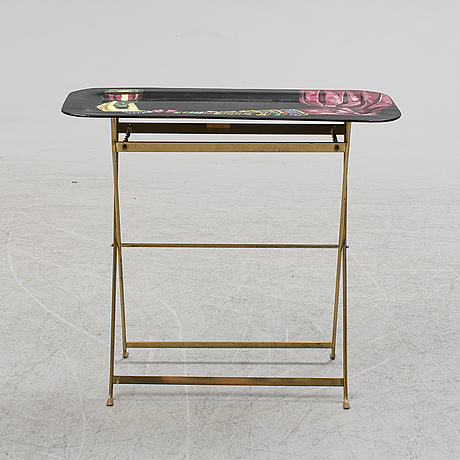 Piero fornasetti, a tray table, milan, italy.