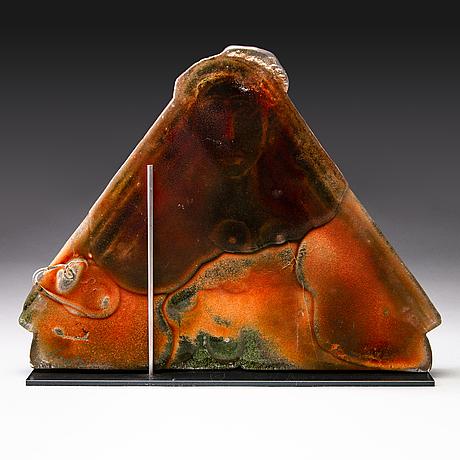 Nanny still, sculpture 'huldra', signed nanny still. studioglass koen vanderstukken niel, belgium 2000.