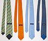 HermÈs, four silk ties.