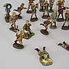 A collection of 29 elastolin figurines, germany 1930's-/40's.