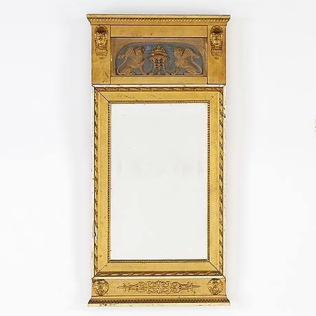 Spegel, sengustaviansk stil, omkring år 1900.