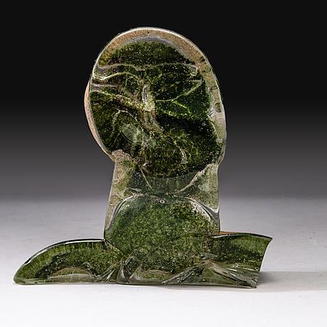 Nanny still, sculpture 'why me', signed nanny still. studioglass koen vanderstukken niel. belgium 2000.