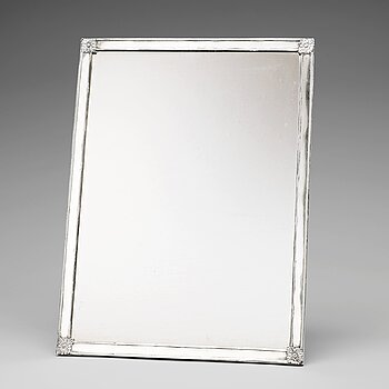 203. A Swedish early 19th century silver mirror, mark of Carl Magnus Ryberg, Stockholm 1812.