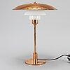 Poul henningsen, a '31/2-21/2' copper table lamp, louis poulsen denmark.