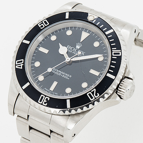 Rolex, oyster perpetual, submariner, wristwatch, 40 mm.