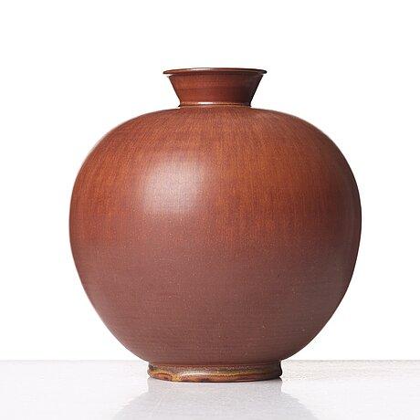 Erich & ingrid triller, a stoneware vase, tobo, uppland, sweden.