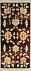 A semiantique chinese beijing carpet ca 196 x 91 cm.