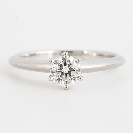 Tiffany & co, brilliant-cut diamond ring 0.48 ct.