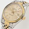 "Rolex, oyster perpetual, datejust, ""tapestry dial"", chronometer, wristwatch, 36 mm."