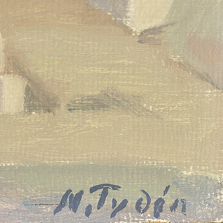Nils tydÉn, oil on panel, signed.
