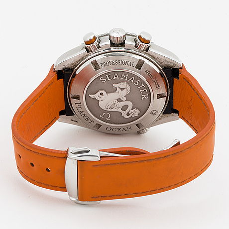 Omega, seamaster, professional (600m/2000ft), planet ocean, chronometer, wristwatch, chronograph, 45 mm.