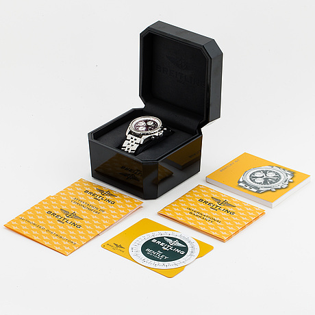 Breitling, for bentley gt, chronometer, chronograf, wristwatch, 44,8 mm.