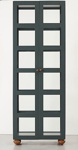 """Johanna lagercrantz, a green lacquered """"parad"""" cabinet for lammhults möbel ab, sweden, executed in an edition of 55 examples, post 1989."""