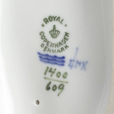 Figuriner b&g, royal copenhagen, samt rörstrand, porslin, 1900-tal.