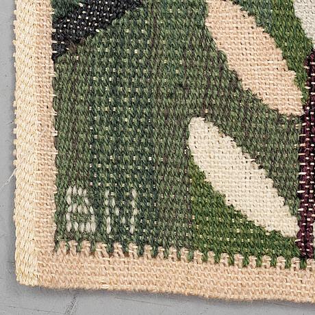 "Barbro nilsson, a textile, ""grön kvist"", ca 61,5 x 47 cm, signed bn."
