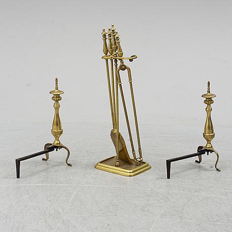 Fire utensils, 6 parts, 20th century.