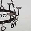 A 20th century iron chandelier.