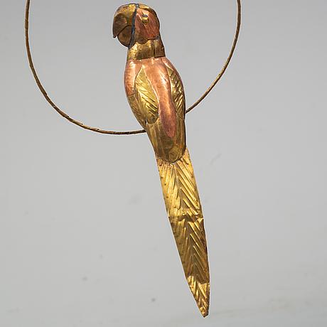 Sergio bustamente, attributed, sculpture, brass and copper, circa 1970.