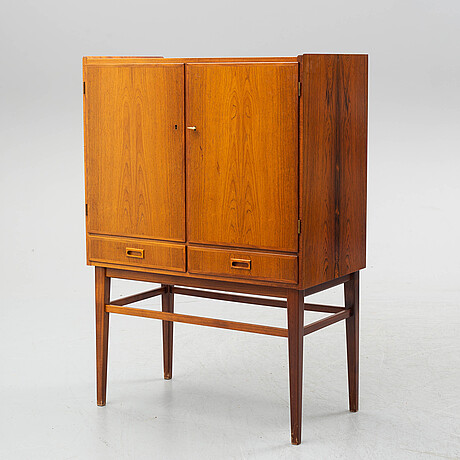 A swedish rosewood veneered drinks cabinet, 1960's.