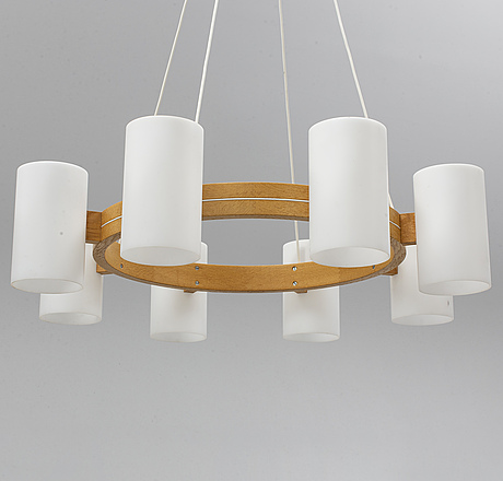 "A ""587 cylinder"" ceiling lamp by uno and Östen kristiansson from luxus."