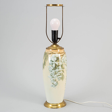 A rörstrand art noveau porcelain table lamp.