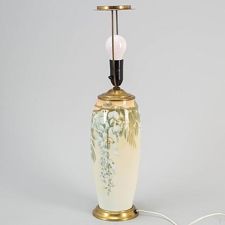 A rörstrand art noveau porcelain table lamp.