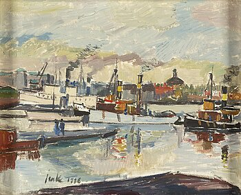 ERIK JERKEN, oil on canvas, signed and dated 1936.