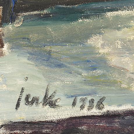 Erik jerken, olja på duk, signerad och daterad 1936.
